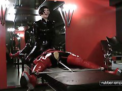 Bondage, Rubber, Doll, Rubber latex sissy mistress