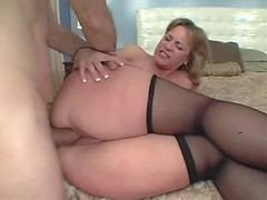 Anal, Mom, Ass, Big Ass, Mom gives pussy to son