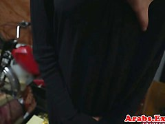 Arab, Amateur hijab muslim girl playing with her