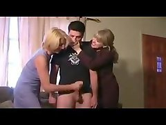 Mom handjob facial
